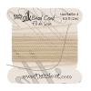 Dazzle-it 100% Silk Bead Cord with needle 2M #4(0.60mm) Beige
